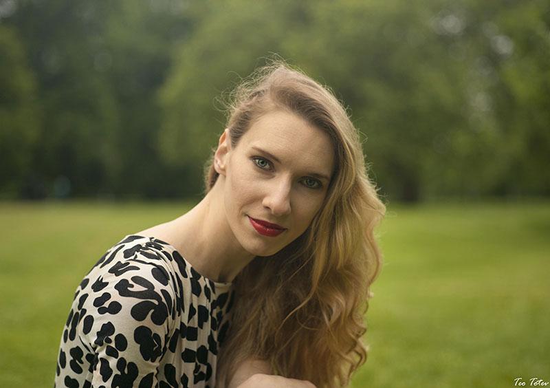 Long Blonde Hair Portrait