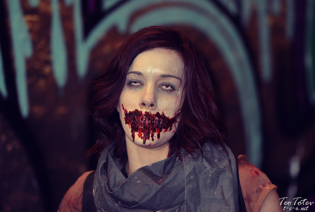Sewed mouth zombie