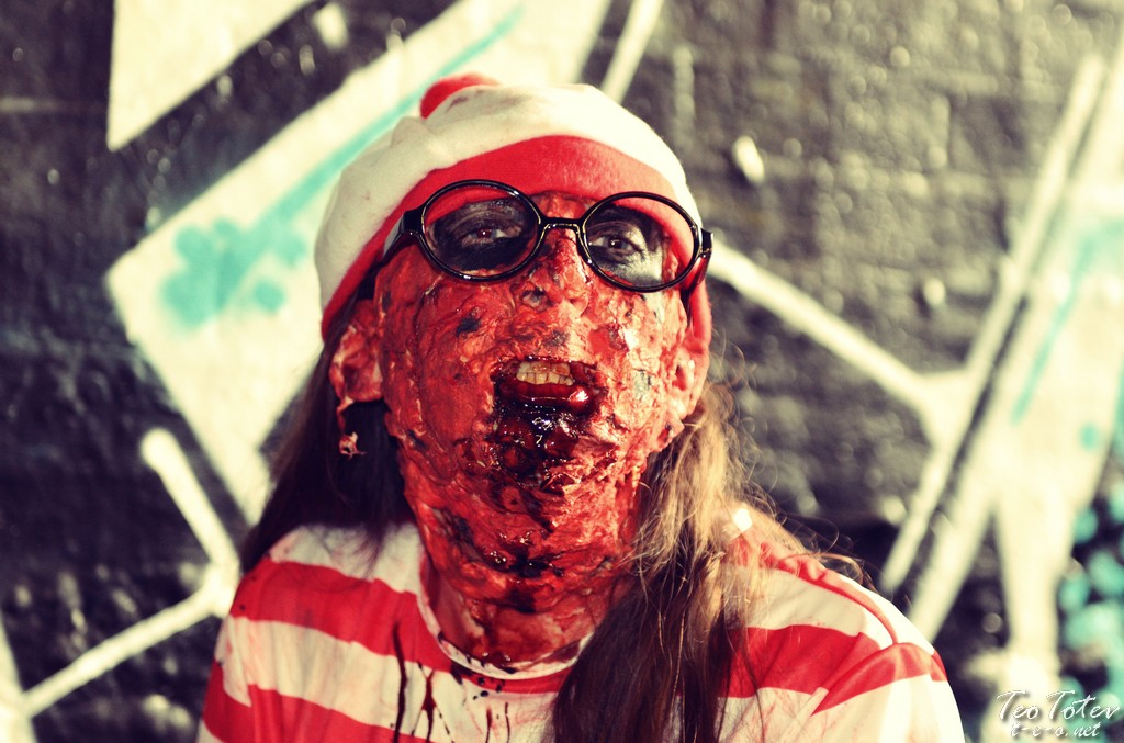 Zombie with glasses