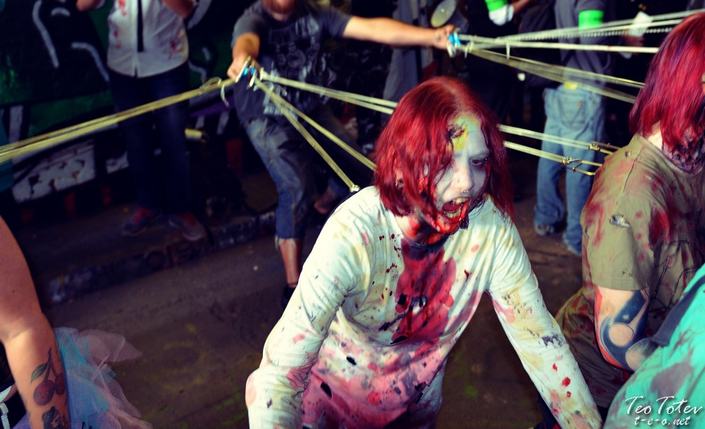Zombie on string