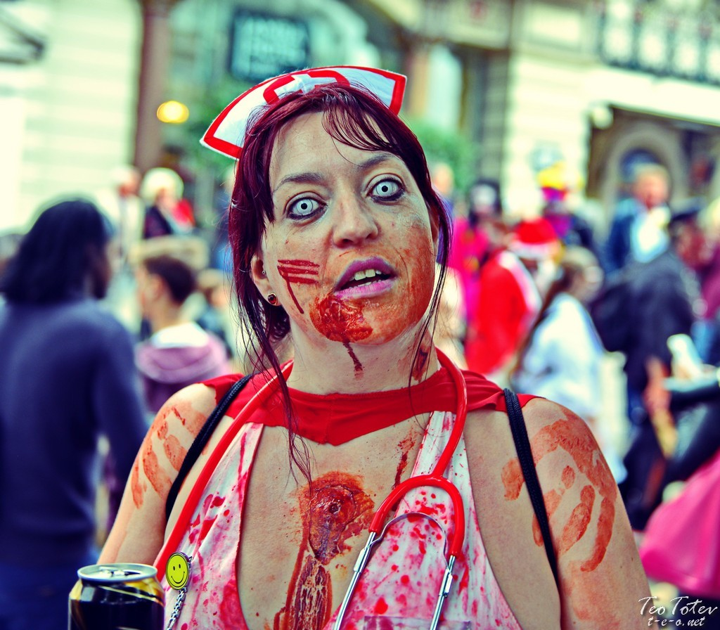 Zombie Nurse with beer