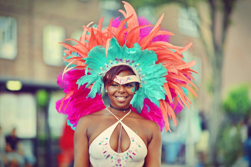 Colourful Dancer at Notting Hill Gate Carnival