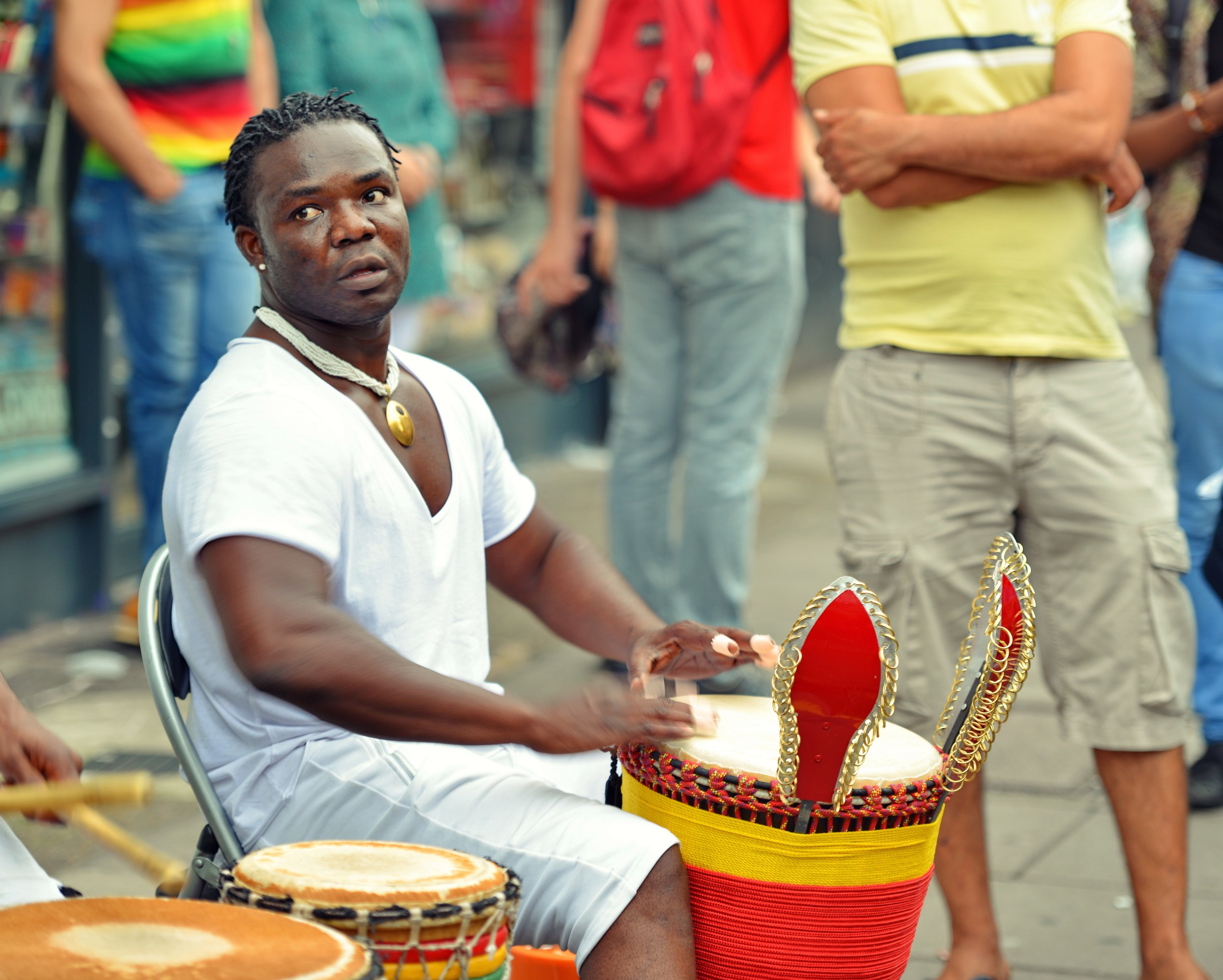 Drummer at Notting Hill Carnival London