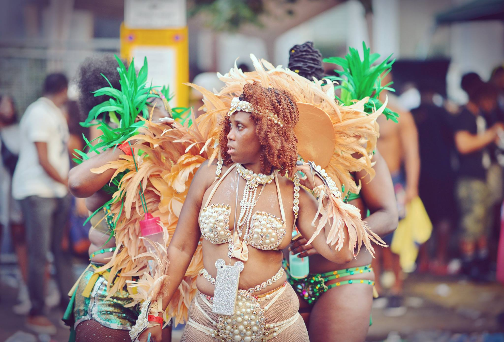 Golden Angel At Notting Hill Carnival