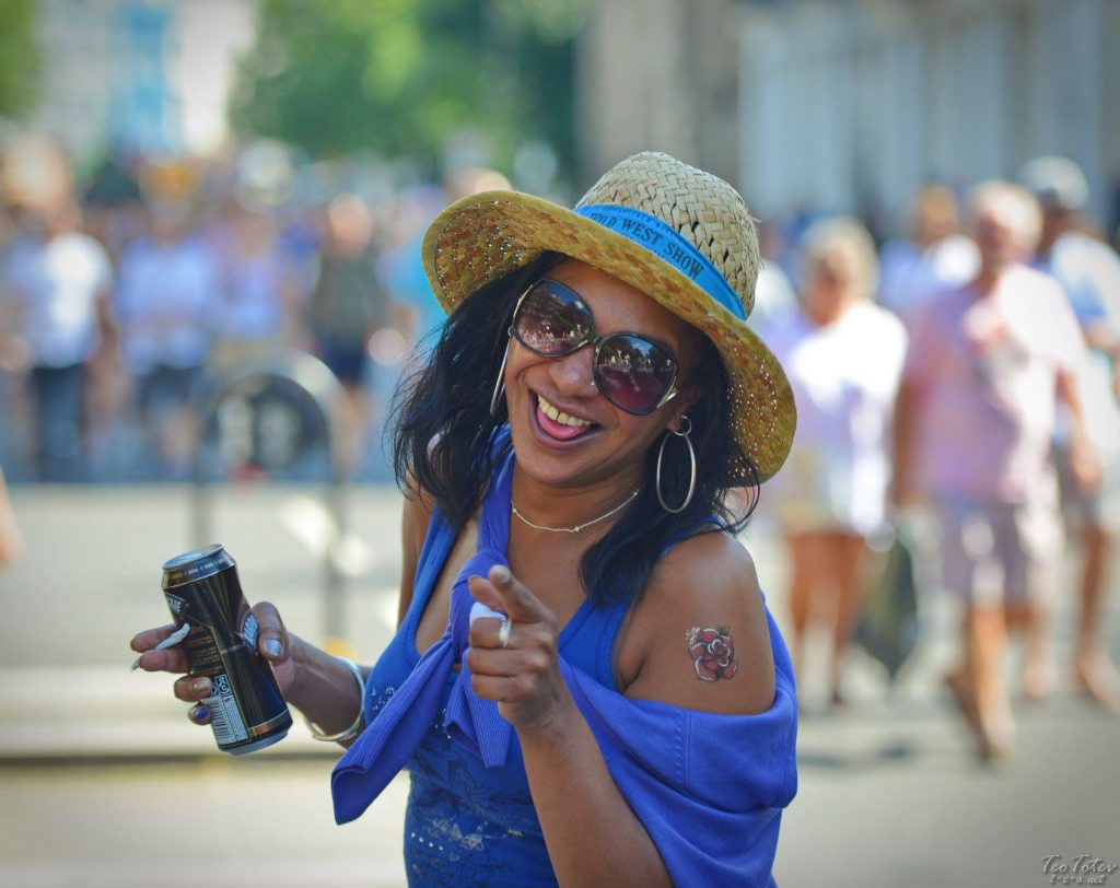 Happy Woman Notting Hill Festival
