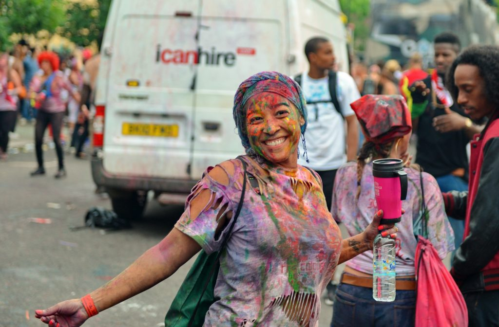 Happy girl on London Carnival