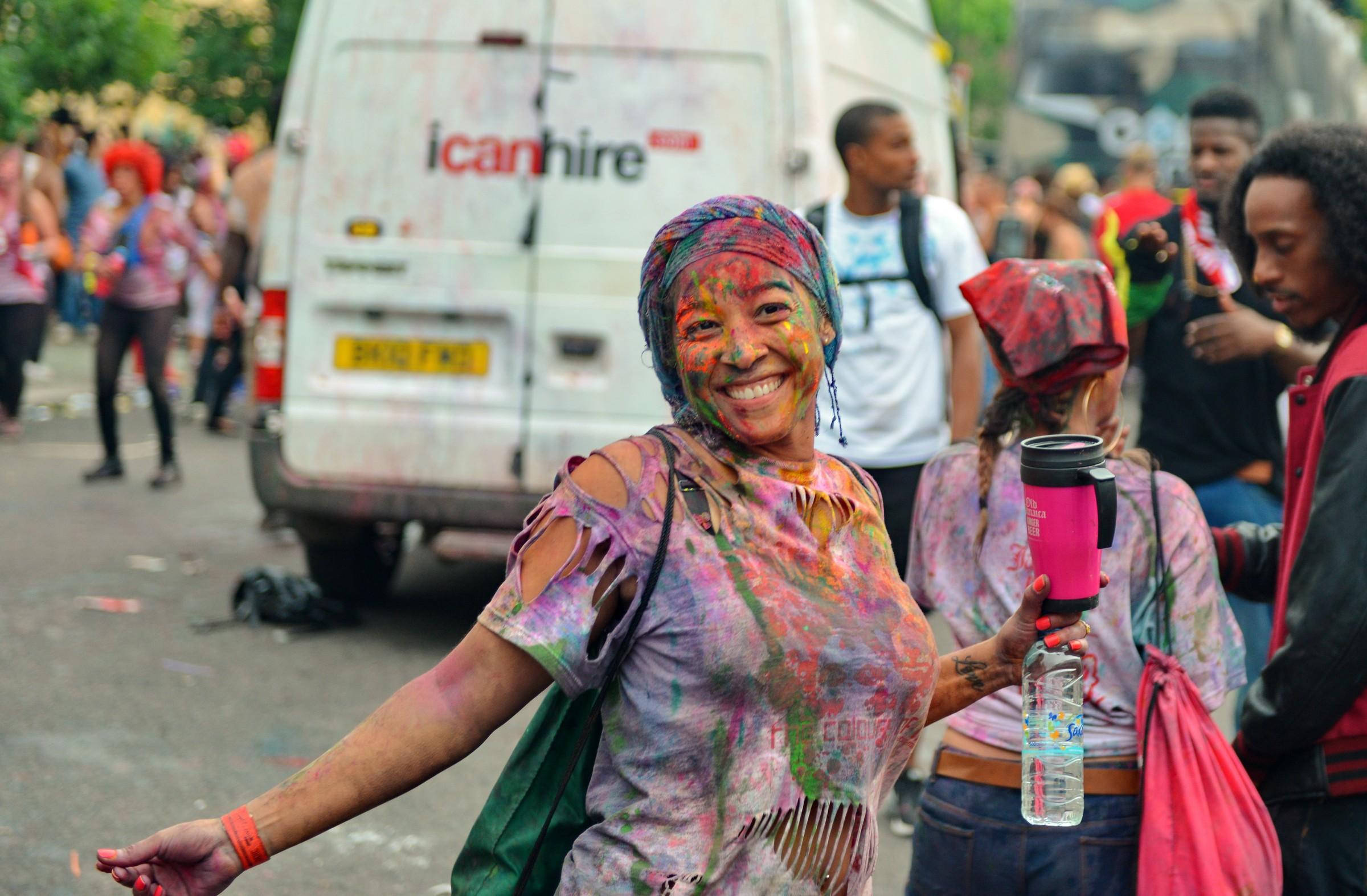Happy girl on London Carnival
