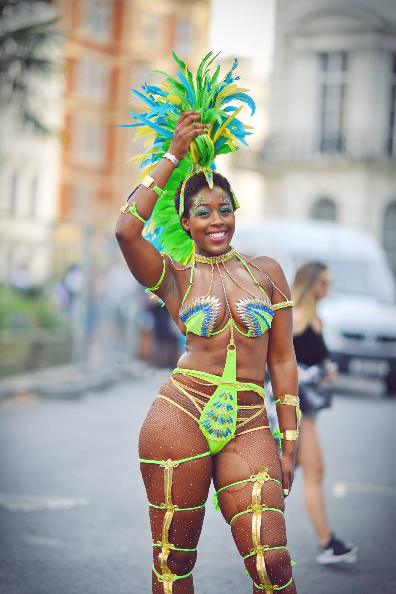 Happy to Pose Dancer at Notting Hill Carnival