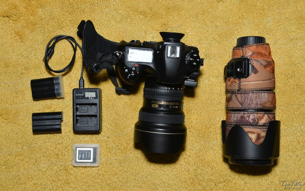 Nikon D850 Travel kit with 14-24mm lens, 70-200mm f2.8 lens, USB Charger, batteries and extra card