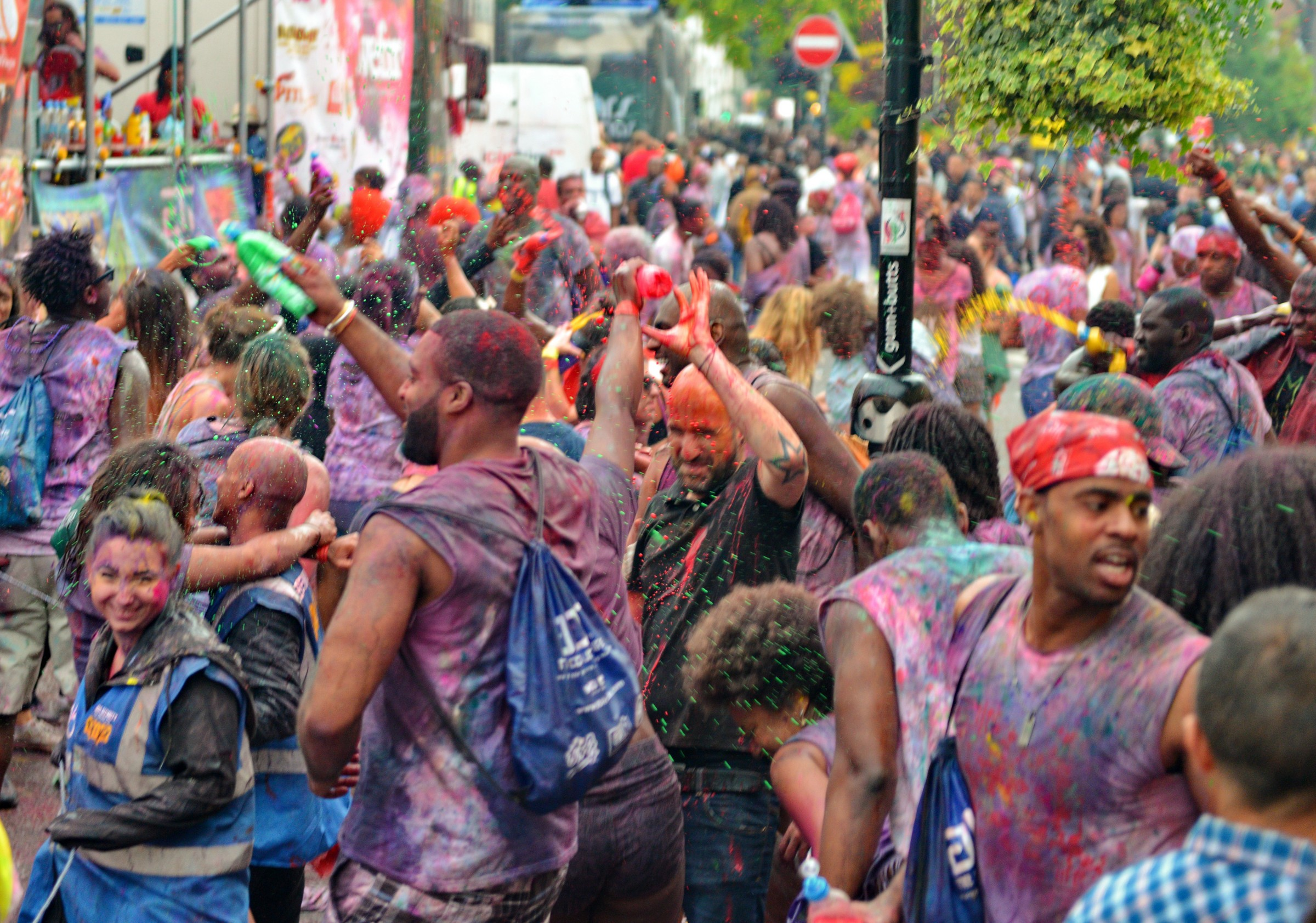 Paint Fight Notting Hill Carnival