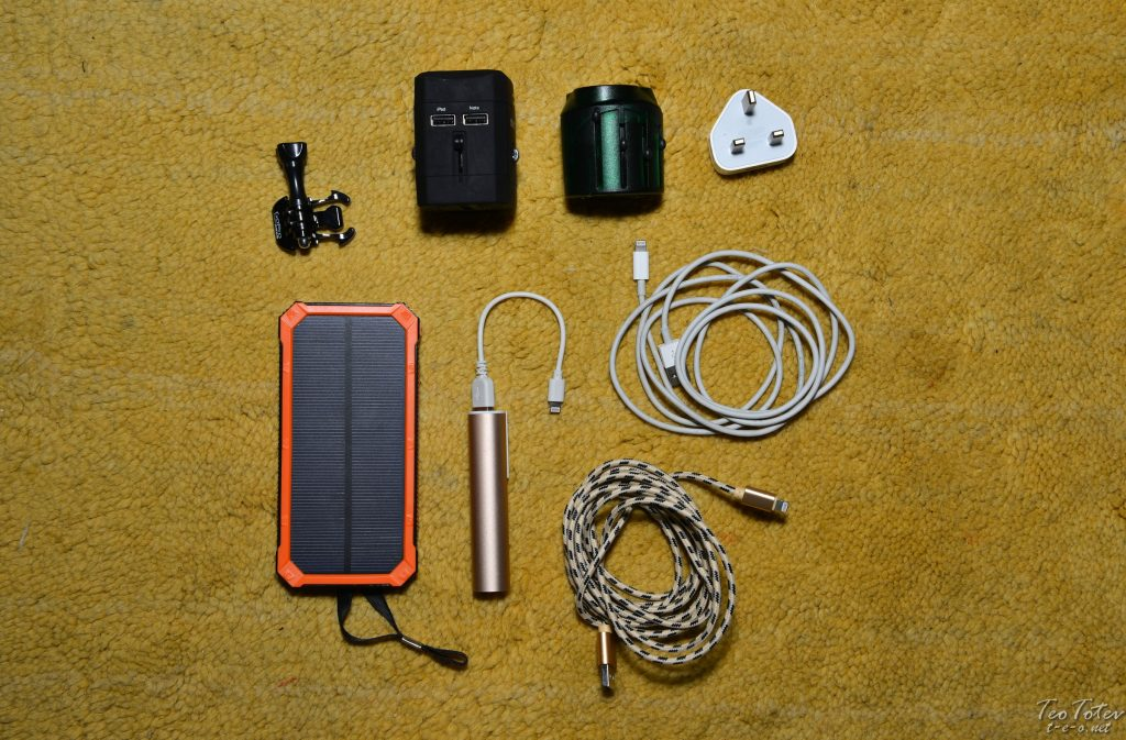Travel Photographer Power Banks, Charges and Cables