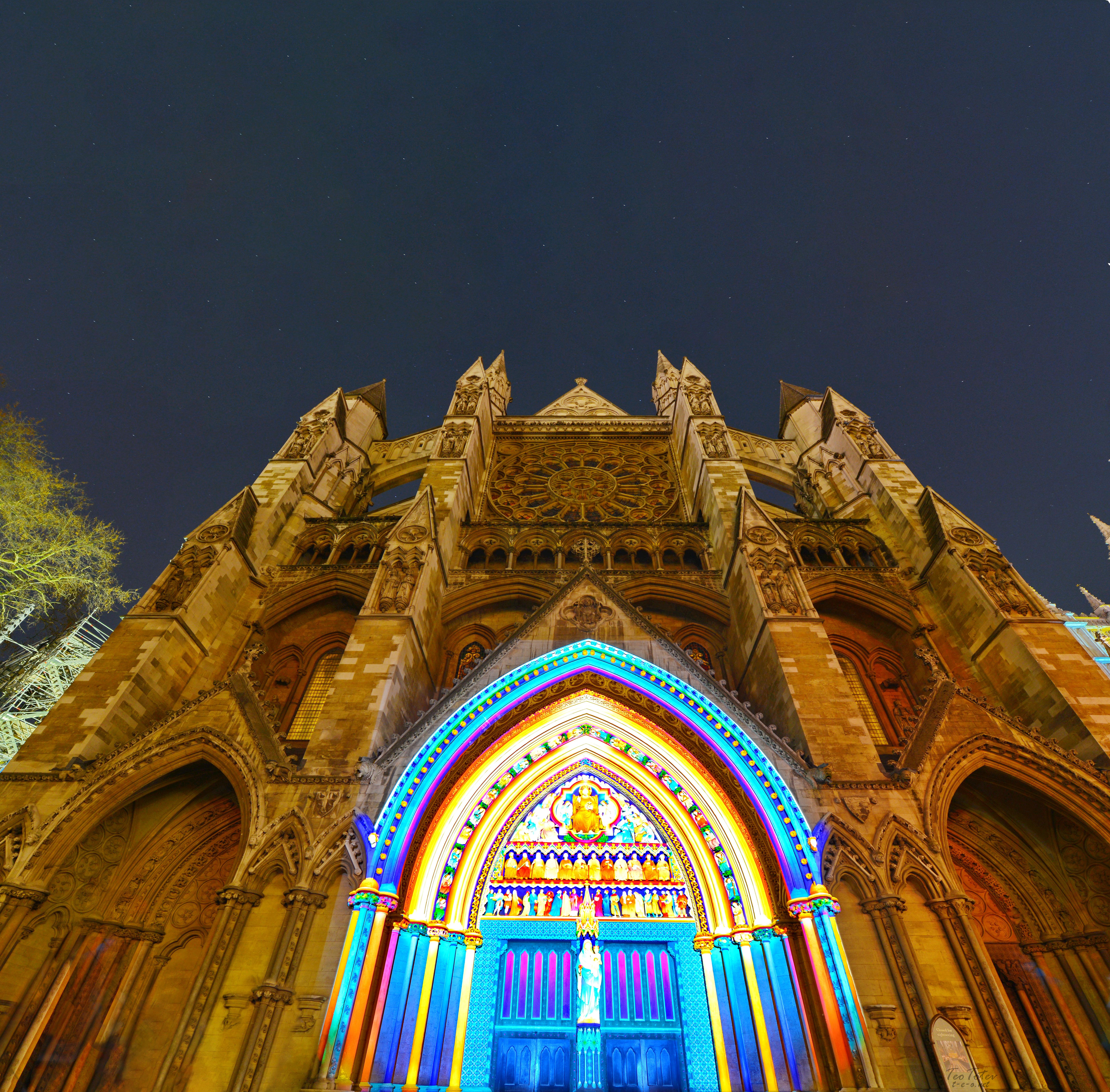Westminster Abbey Night Sky