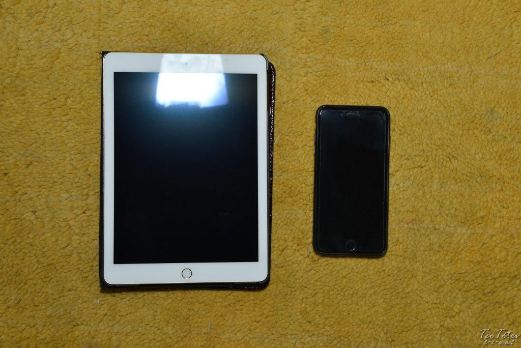 iPad Air 2 and iPhone 8
