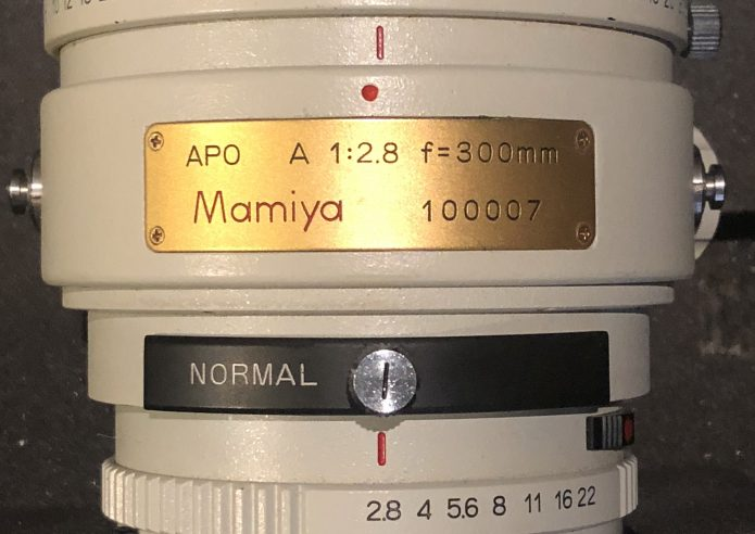Mamiya 300mm f2.8 APO Low Serial Number Lens