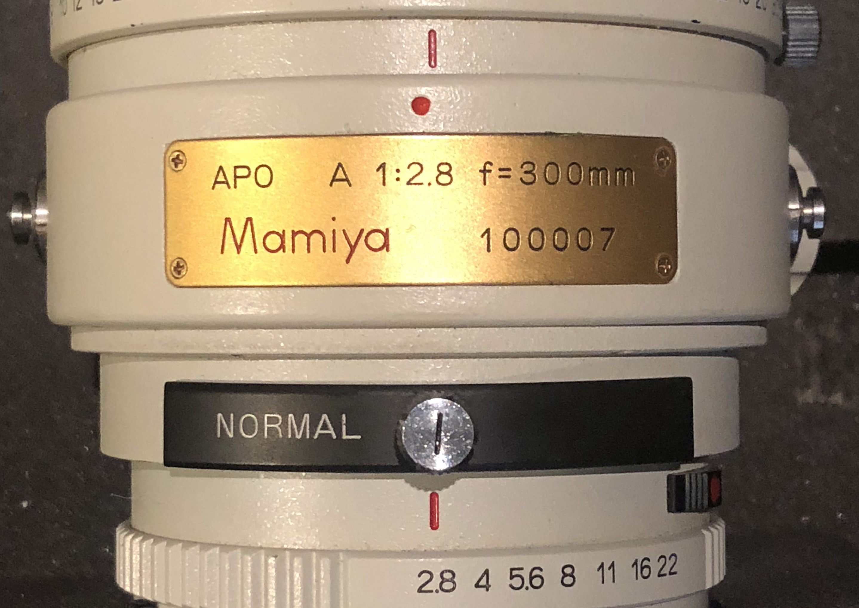 Mamiya 300mm f2.8 APO Low Serial Number Lens