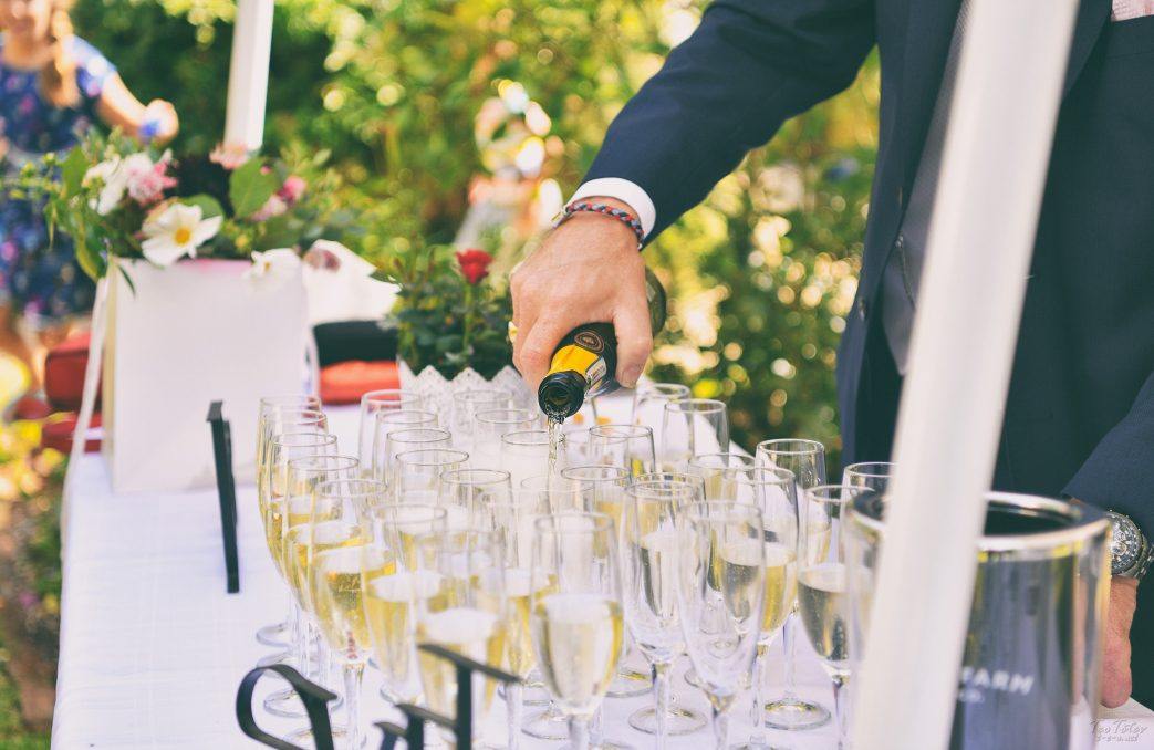 Wedding Champagne Pouring