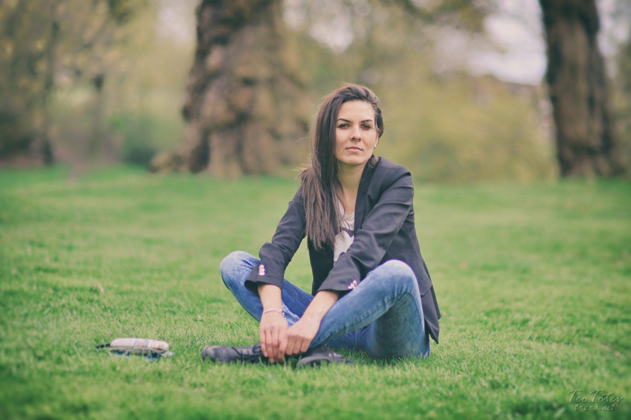 Brunette in Park