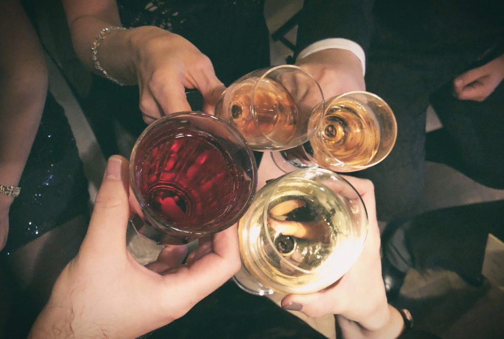Drinks at award ceremony