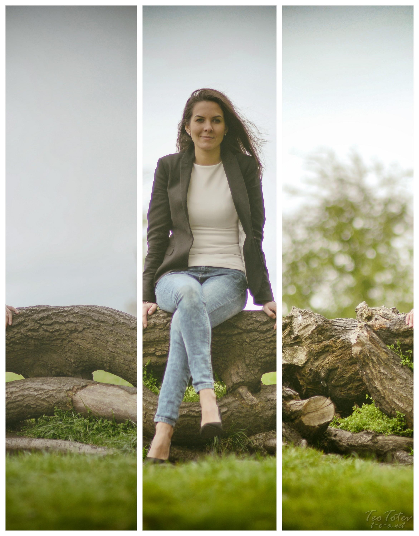 Girl on tree
