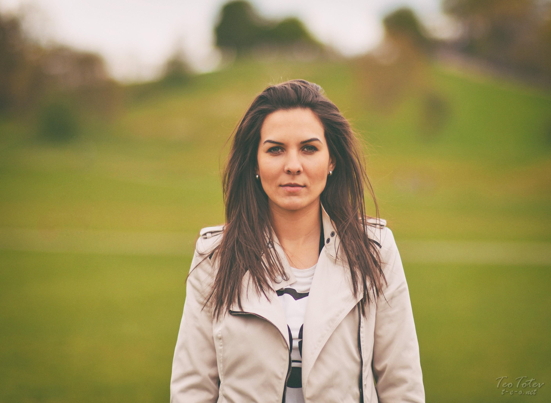 Model in Raincoat