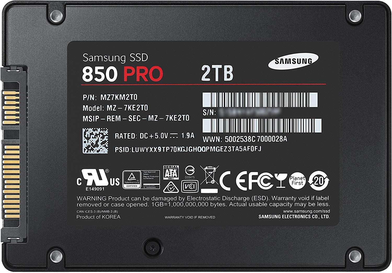 Samsung 850Pro 2TB SSD