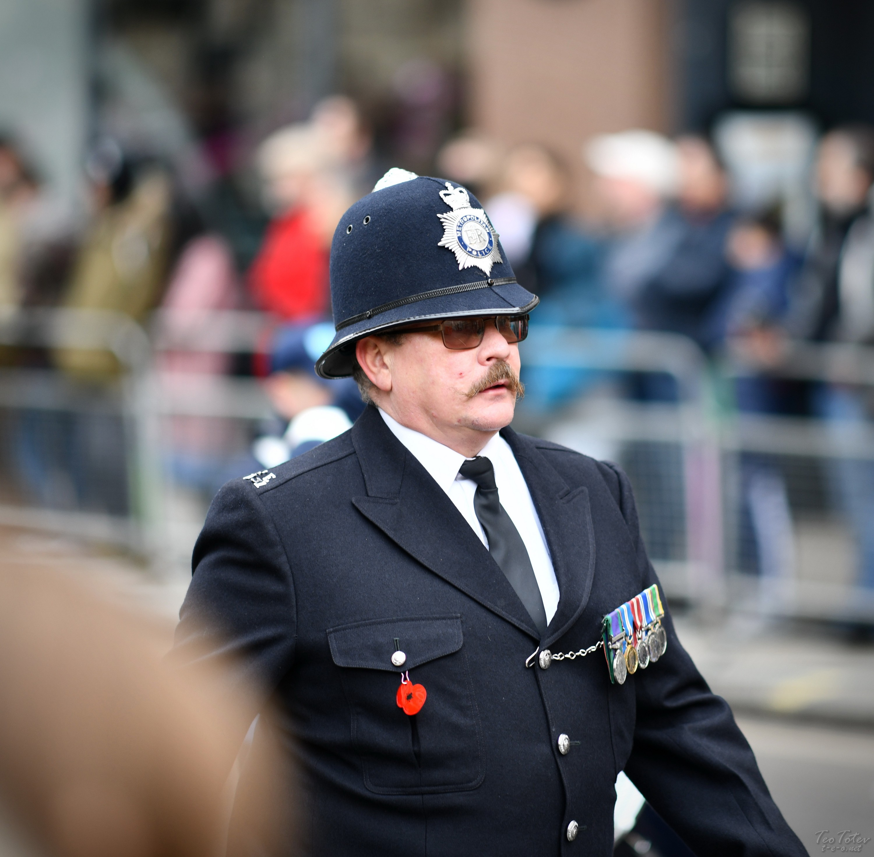 London Police with moustaches