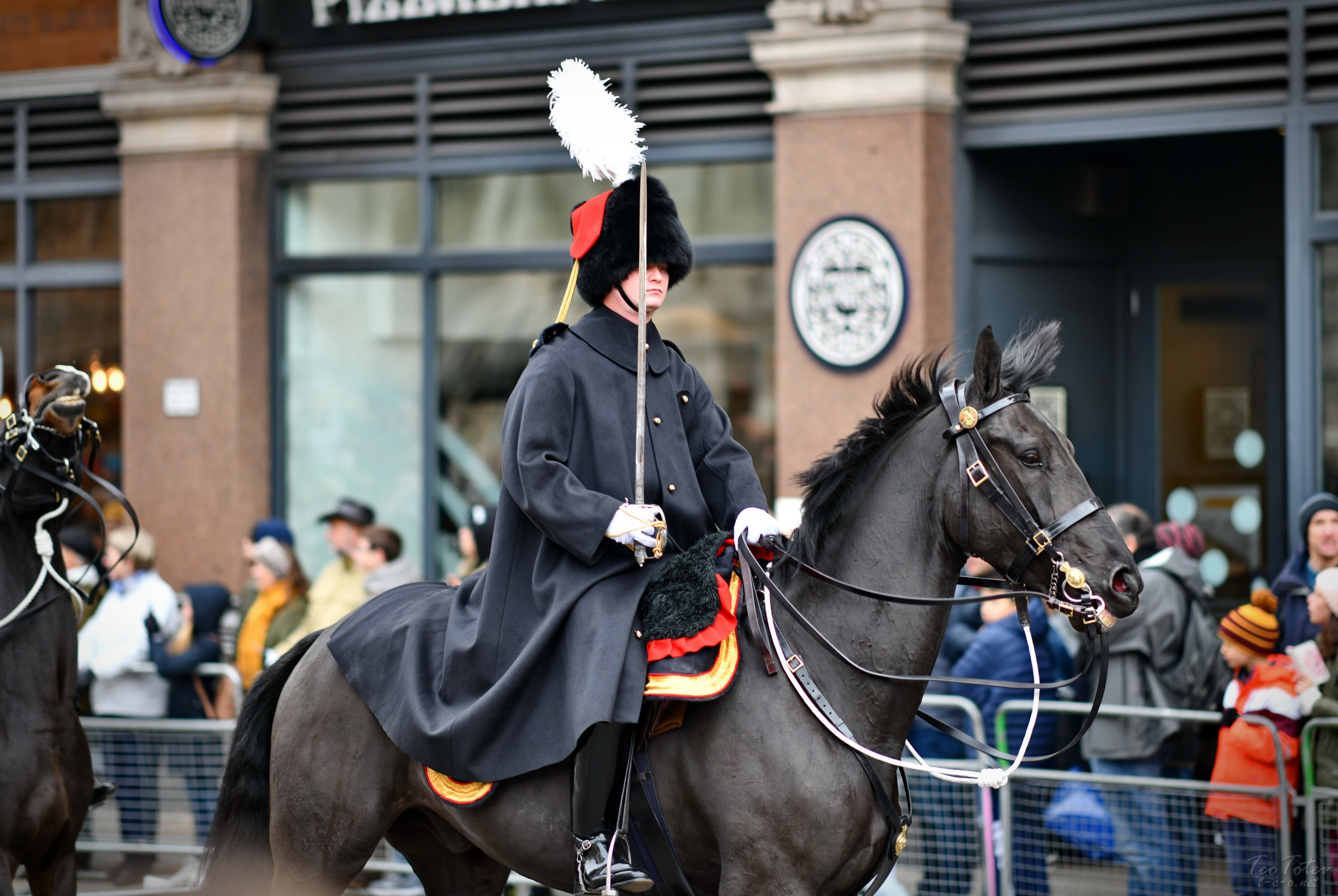 UK Soldier on horse with sword