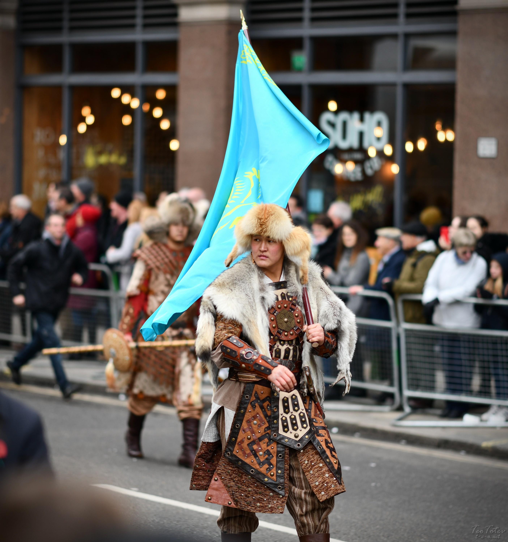 fur coated warrior in London