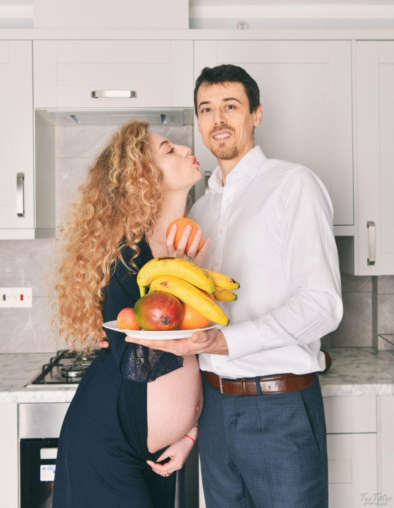 Kitchen Maternity Photography