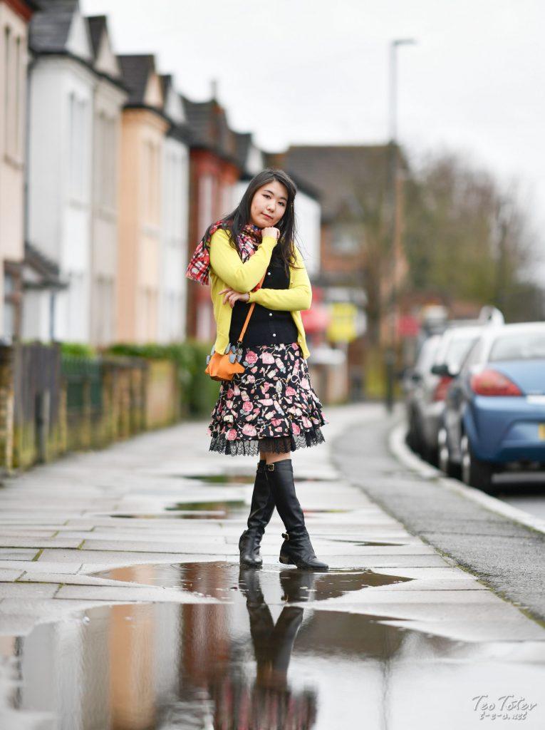 Model in Rainy Weather