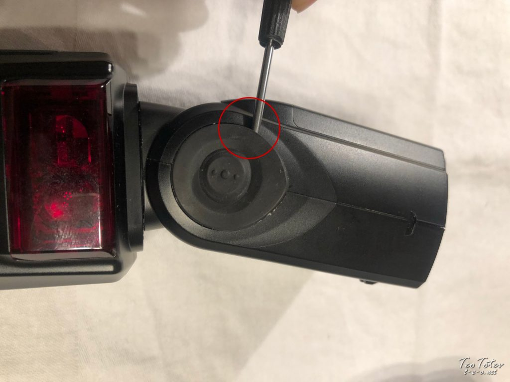 Removing Nikon Flash Rubber Seal