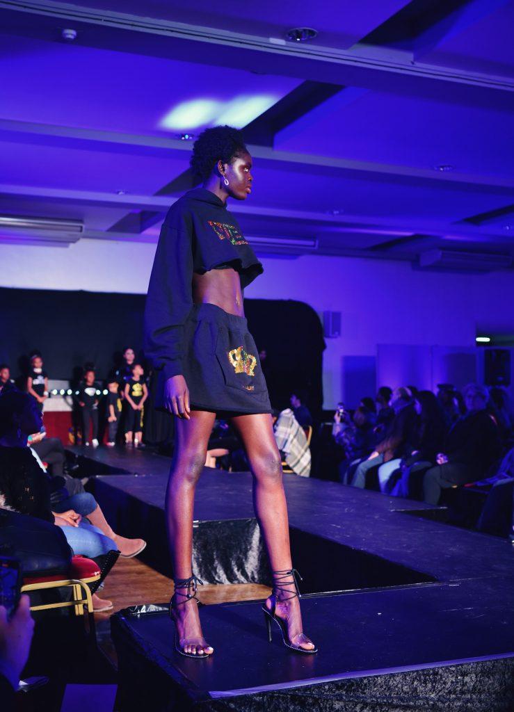 Skinny black model