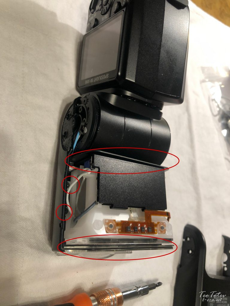What needs to be removed to release flash tube assembly