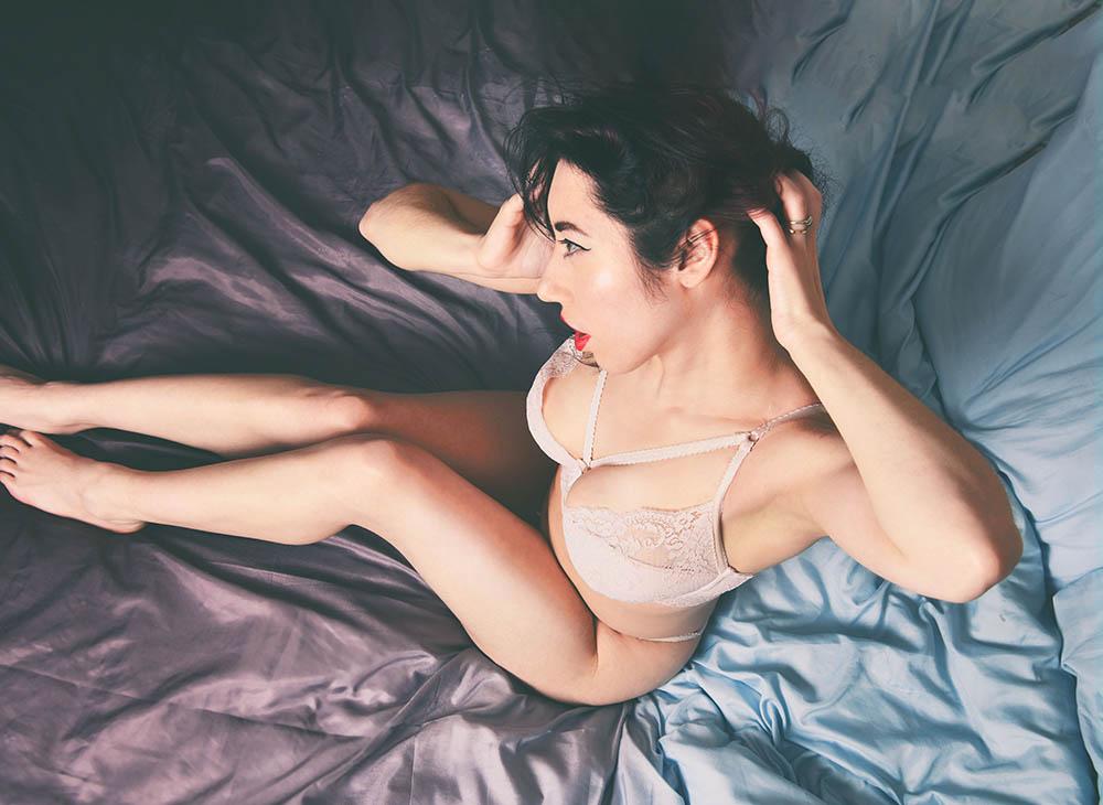 Plus size lingerie photography