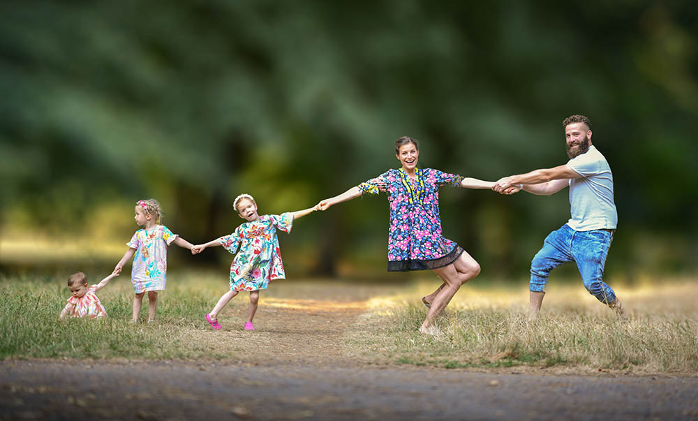 professional family photo shoot